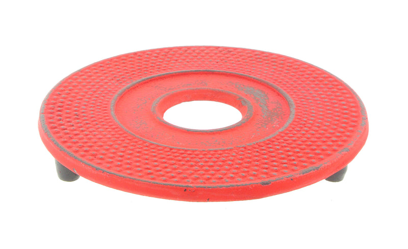 GURO Cast Iron Japanese Trivet, Red