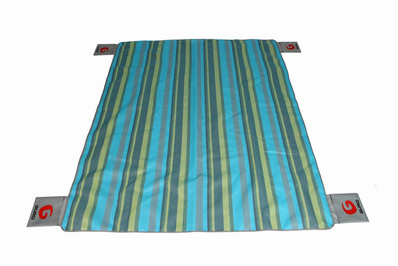 "GURO No-Sand Beach Mat Portable Sand Proof, Turquoise 70"" X 86"""