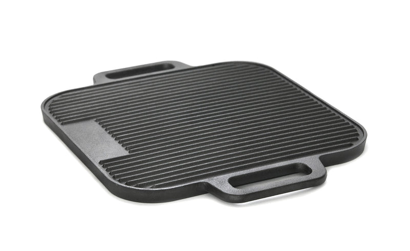 GURO Cast Iron Pre-Seasoned Double Play Grill / Griddle 14.7''x 14.7''