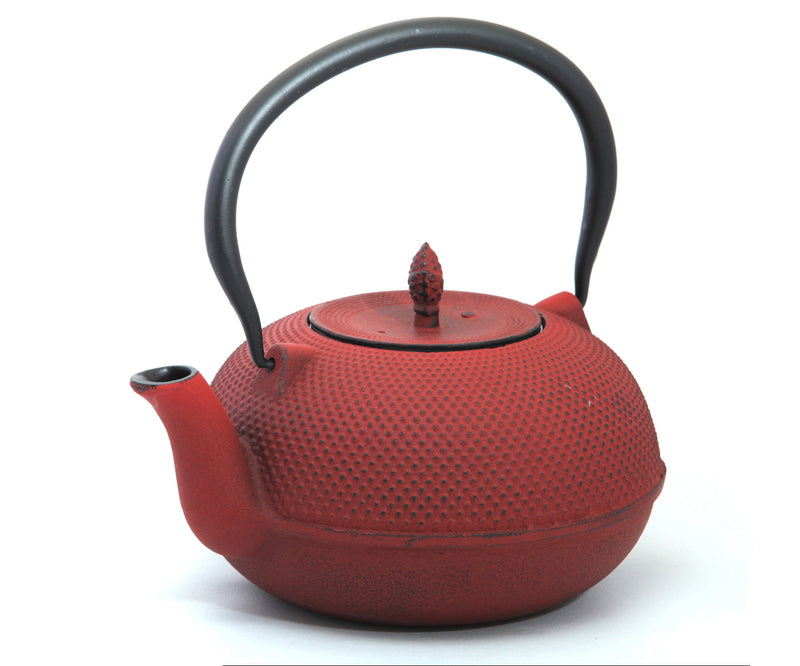 GURO Cast Iron Harmony Teapot 60 Ounce, Red