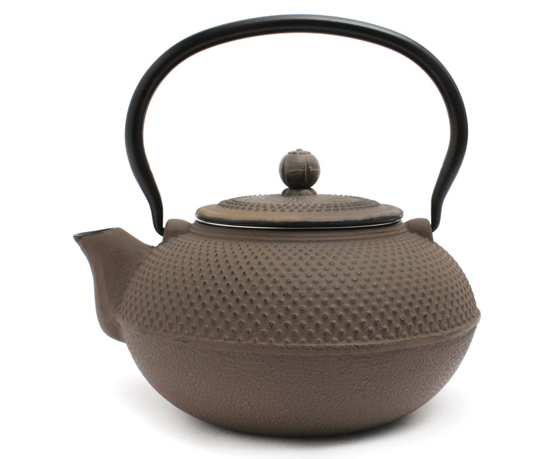 GURO Cast Iron Nailhead Teapot 50 Ounce, Grey