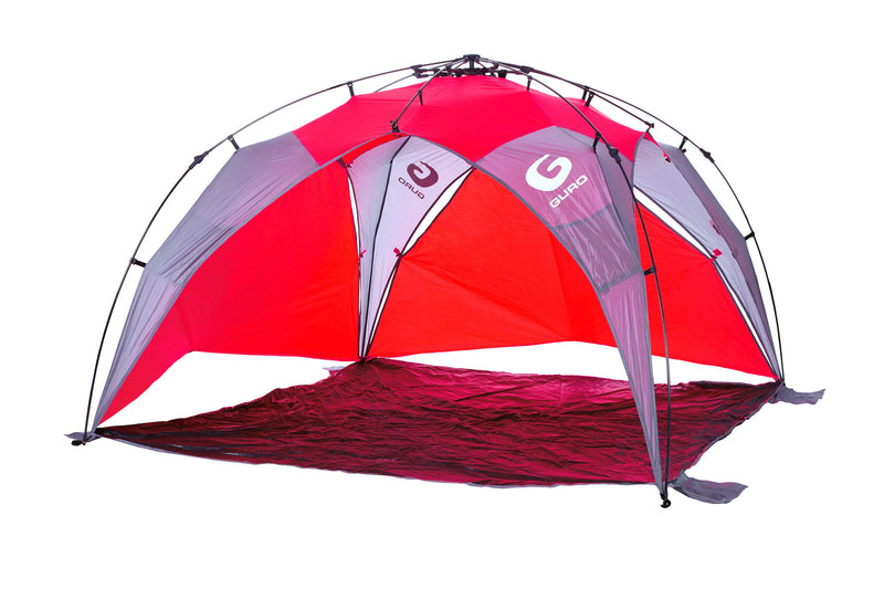 GURO Nirvana 5 People Sun Shelter Tent, Orange / Turquoise / Red