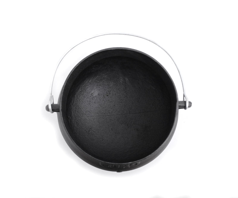 GURO Cast Iron Potjie (Poyke) Pot Dutch Oven Size No.2, 5.8QT