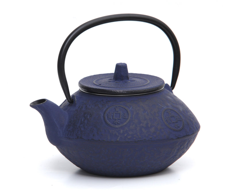 GURO Cast Iron Sigma Teapot 27 Ounce, Blue