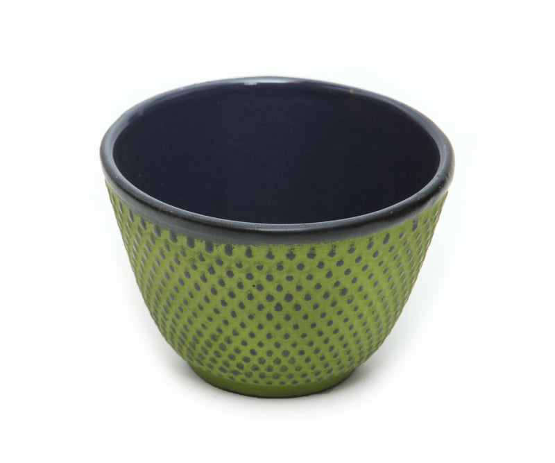 GURO Cast Iron Sigma Tea Cup with Inner Enamel Coating, Green