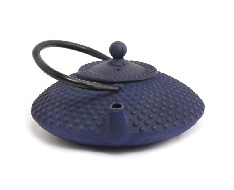 GURO Cast Iron Hira Teapot 41 Ounce, Blue
