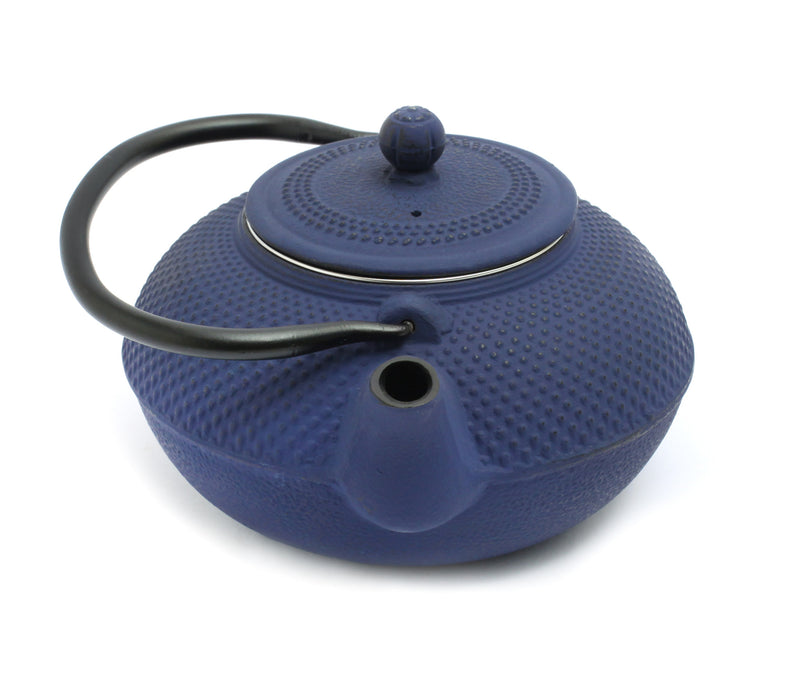 GURO Cast Iron Nailhead Teapot 50 Ounce, Blue