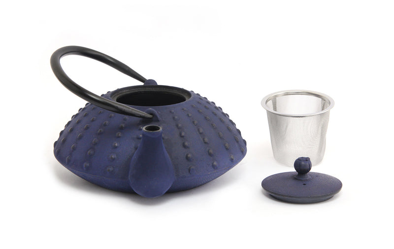 GURO Cast Iron Shinga  Teapot 38 Ounce, Blue