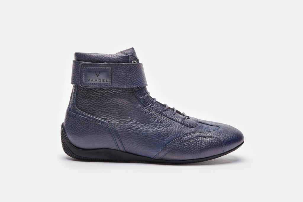 Iconic High - Navy Blue Deer Leather - VANDEL