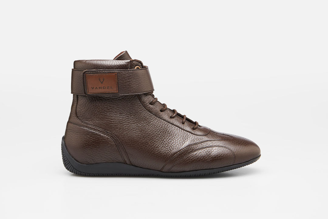 Iconic High - Dark Brown Deer Leather - VANDEL