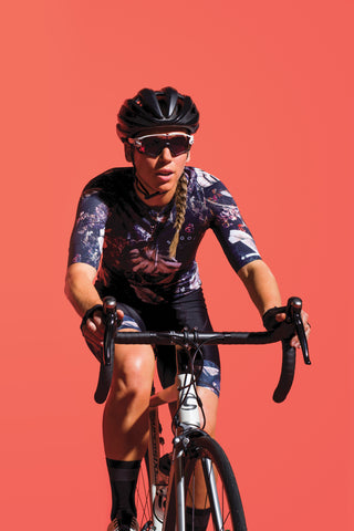 SUGOI Women's RS Pro Jersey, Navy Monstera Alt (U575530F)