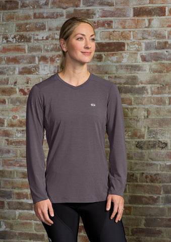 SUGOI Women's Off Grid Long Sleeve (L/S), Dark Charcoal Alt (U605000F)