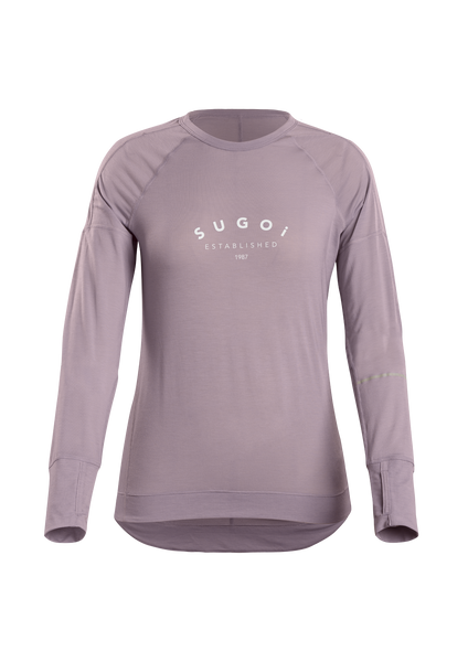 SUGOI Women's Coast Long Sleeve (L/S), Purple Fog Origin (U601000F)
