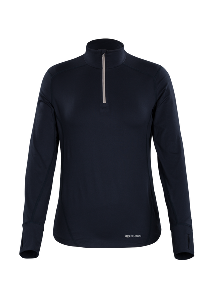 SUGOI Women's Fusion Core Zip, Deep Navy (U607020F)