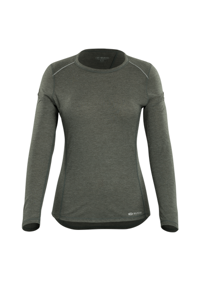 SUGOI Women's Verve Long Sleeve (L/S), Deep Olive (U600520F)
