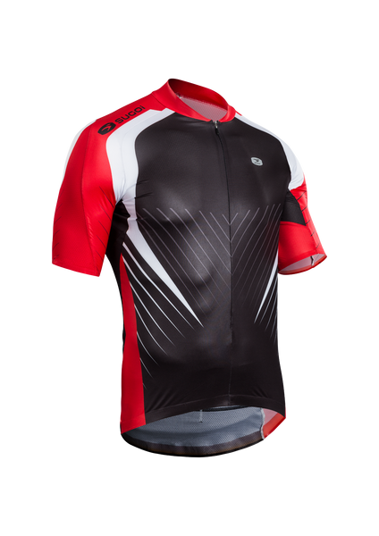 SUGOI Men's RSE Jersey, Chili/Black/White (U575010M)