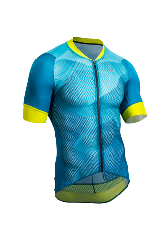 SUGOI Men's RS Climber`s Jersey, Ocean Depth/Mountain Print (U575520M)
