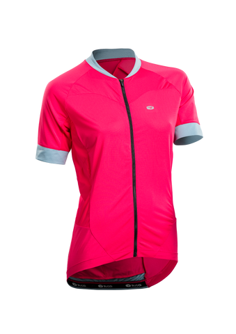 SUGOI Women's Evolution Ice Jersey, Azalea (U576020F)