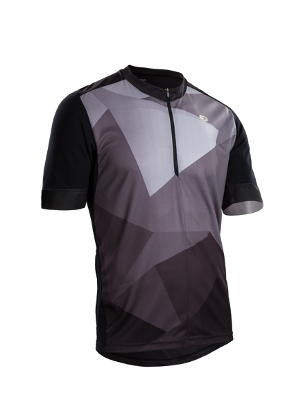 SUGOI Men's Pulse Jersey, Black/Mountain Print (U581010M)