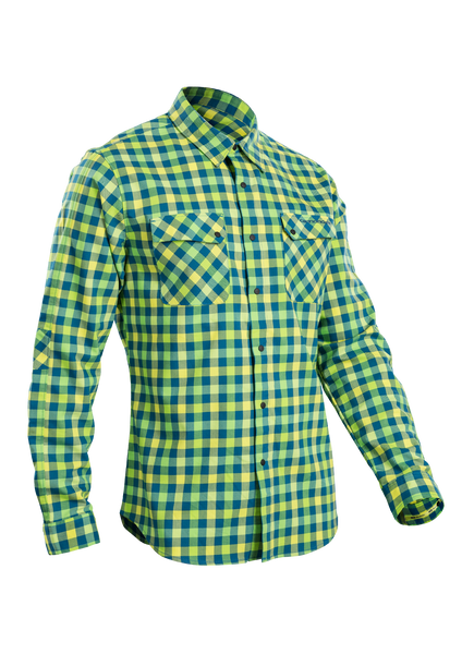 SUGOI Men's Shop Shirt L/S, Baltic/Super Nova (U695000M)