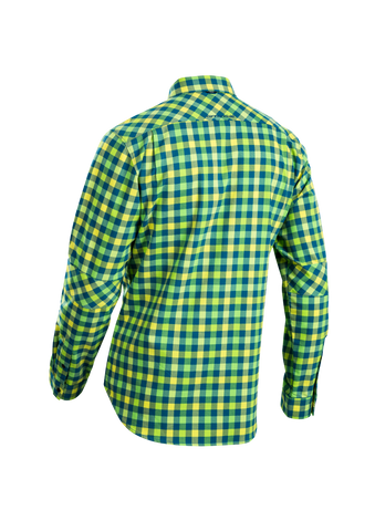SUGOI Men's Shop Shirt L/S, Baltic/Super Nova Alt (U695000M)