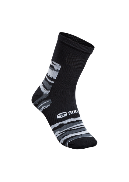 SUGOI RS Crew Sock Printed, Black/Brush Stroke (U941000U)