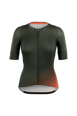 SUGOI Women's RS Pro Jersey, Deep Olive Gradient (U575530F)