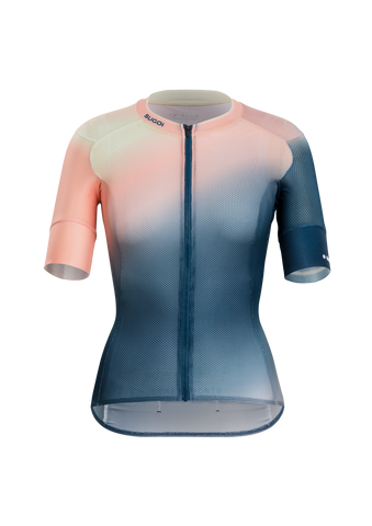 SUGOI Women's RS Climber's Jersey, Bloo Gradient (U575540F)