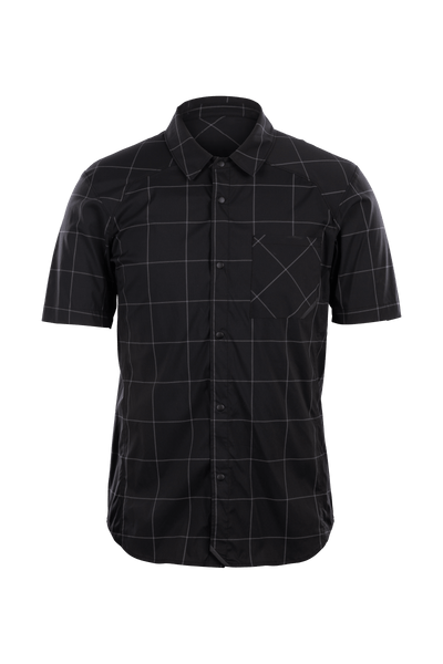 SUGOI Off Grid Work Shirt, Black Grid Plaid (U595010M)
