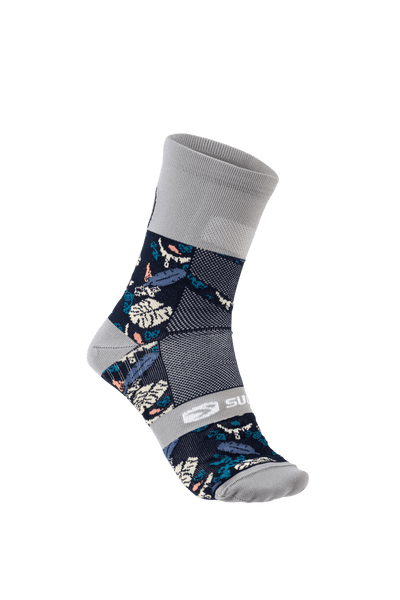 SUGOI RS Crew Sock Printed, Navy Monstera (U941000U)