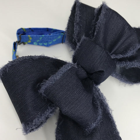 Go Big Dark Denim Chic Bow Tie (2.5in)