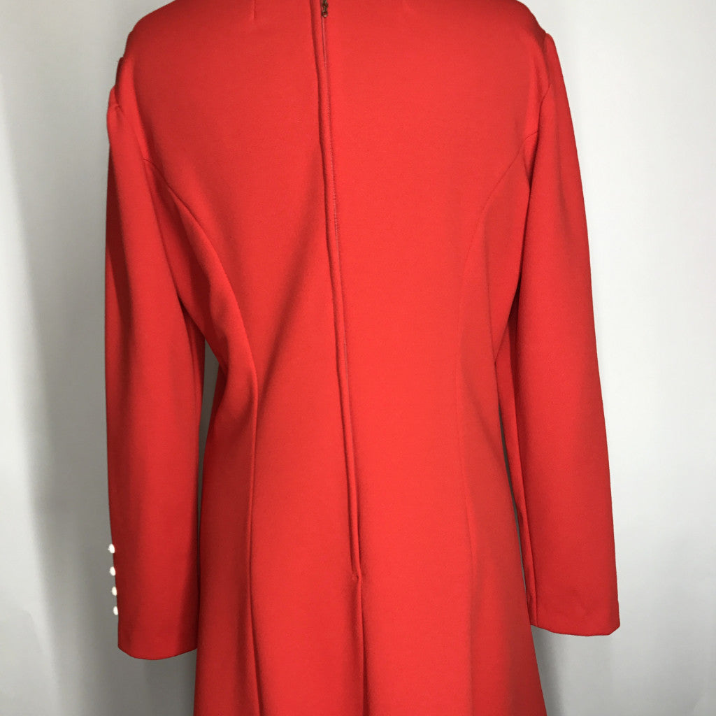 1970s Classic Red Level Vintage Dress