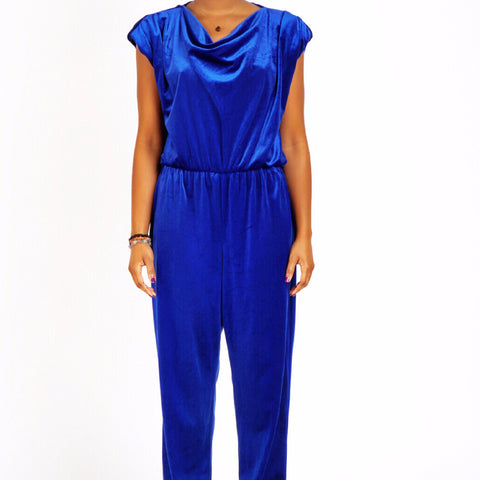Blue Velvet 70s Jumpsuit