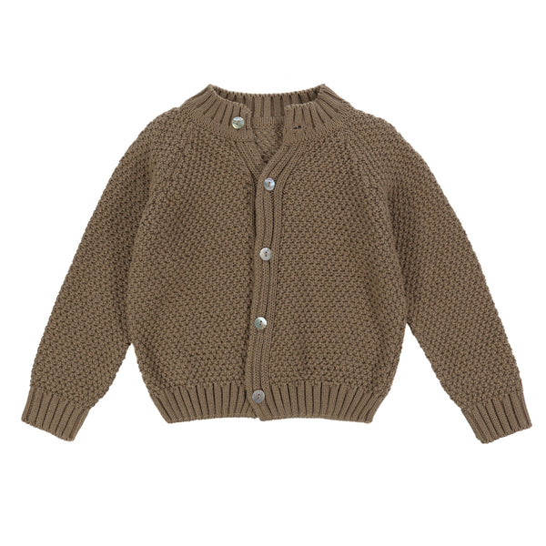 Hastings Cotton Moss Stitch Cardigan - Mabel Child
