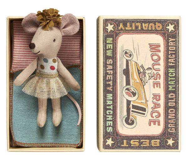 Maileg Mouse Little Sister In Box - Mabel Child