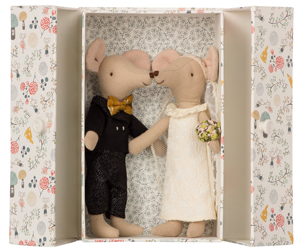 Wedding Mice Couple In Box - Mabel Child