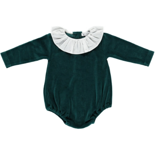 Roise Romper - Emerald - Mabel Child