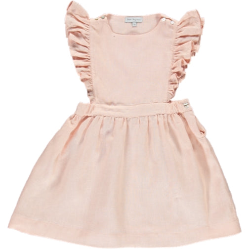 Angnes Pinafore Dress - Pale Blush - Mabel Child