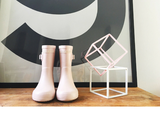 Powder Pink Gumboots - Mabel Child