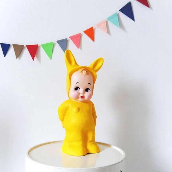 Scandi Yellow Baby Lapin Lamp - Mabel Child