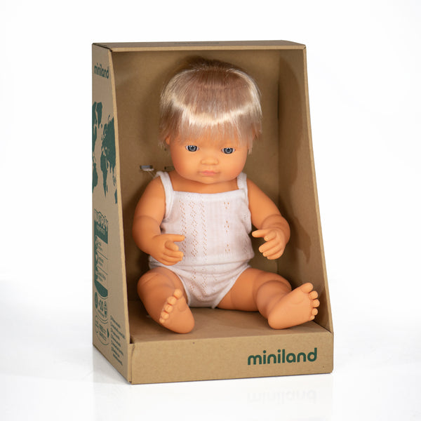 38cm Baby Doll Caucasian Boy & Girl - Mabel Child
