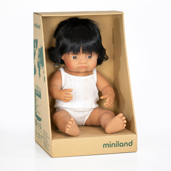 38cm Baby Doll Hispanic Boy & Girl - Mabel Child