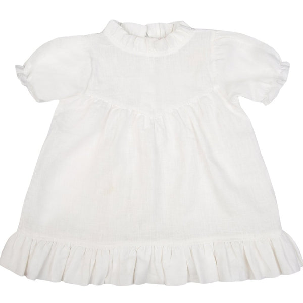 Natural White Odette Dress - Mabel Child