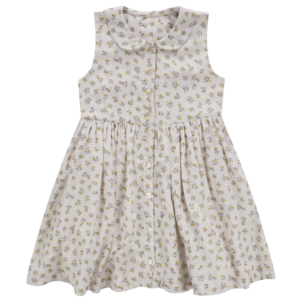 Maggie Dress Tiny Buttercup Floral - Mabel Child