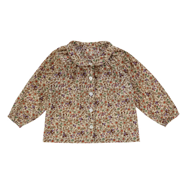 Annie Blouse Autumnal Floral - Mabel Child