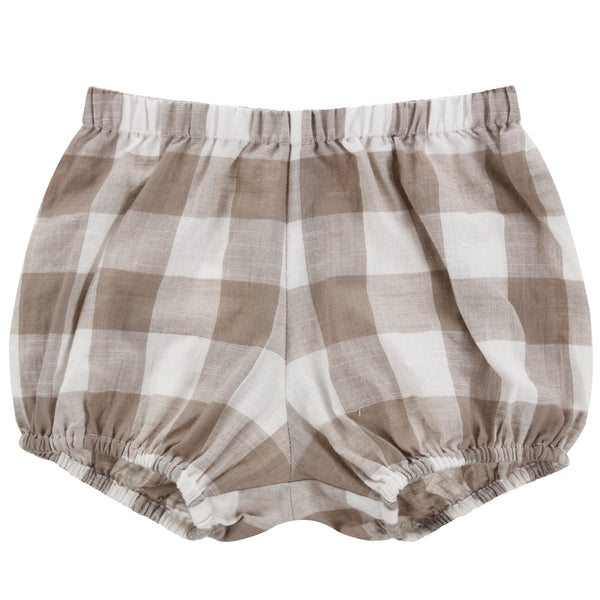 Poppy Bloomer - Textured Gingham In Cinder - Mabel Child