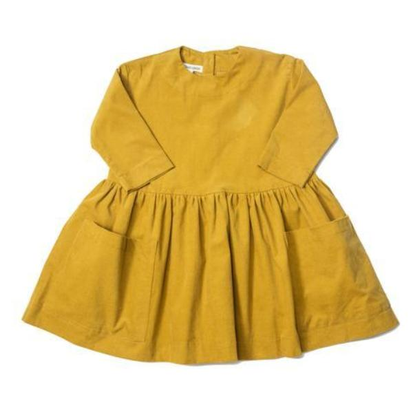 Pocket Dress - Mustard Corduroy - Mabel Child