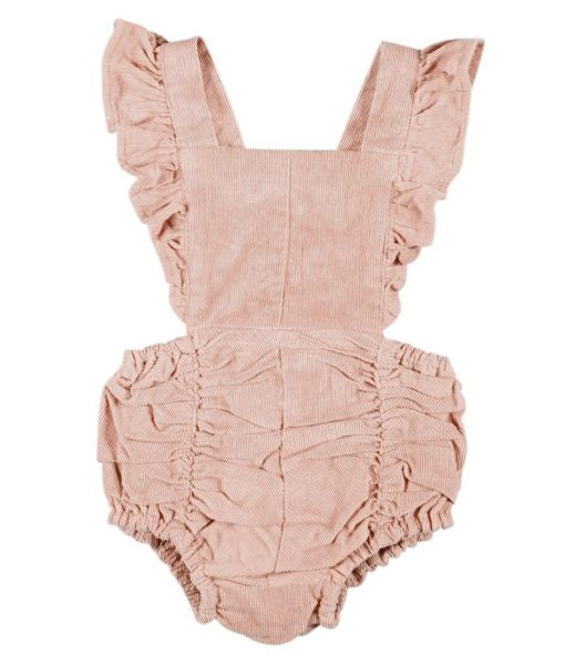 Ruffle Romper In Blush - Mabel Child