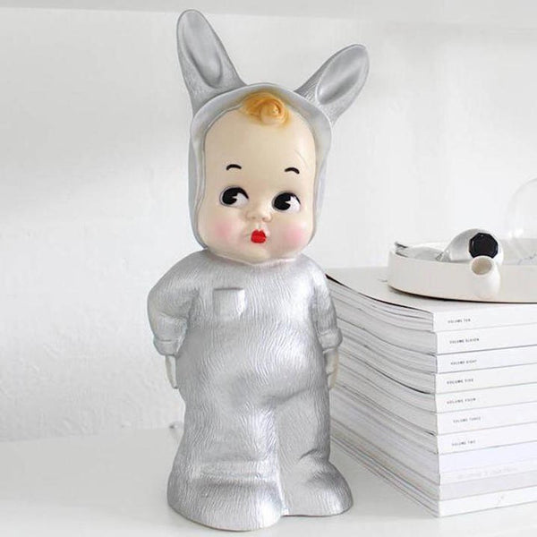 Silver Baby Lapin Lamp - Mabel Child