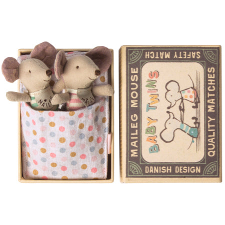 Baby Twins Mouse In Matchbox